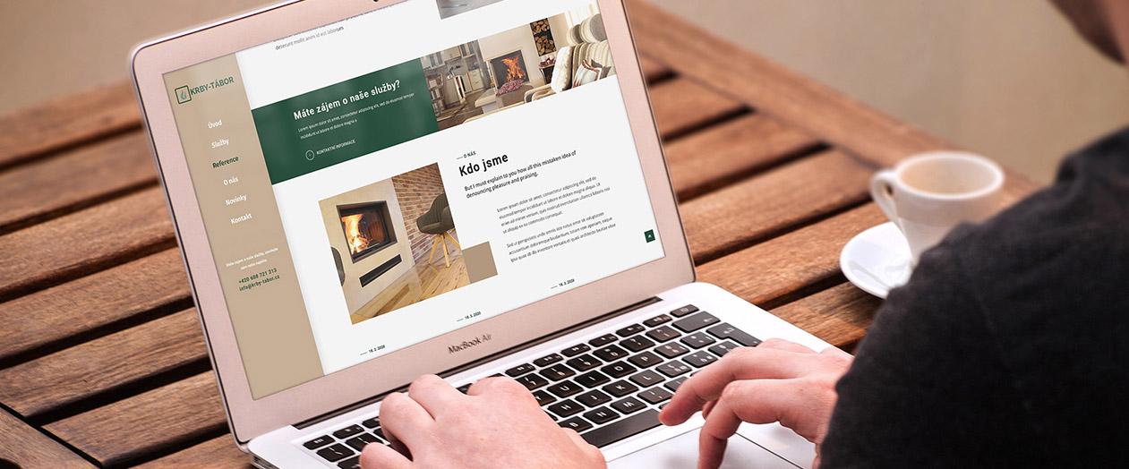 Nová práce: Vytvořili jsme one page web pro Krby Tábor