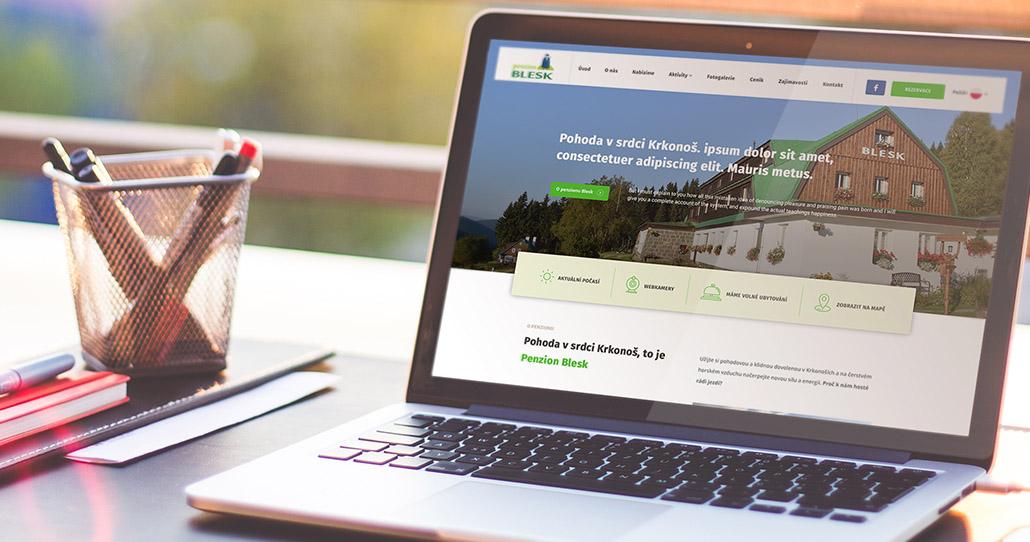 Jak jsme vytvořili web pro penzion Blesk